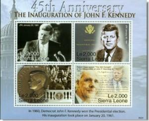 John F Kennedy Inauguratie januari 1961 - postzegelblok