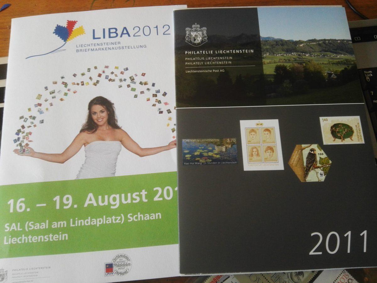Liechtenstein op postkantoor gekochte jaarcollectie